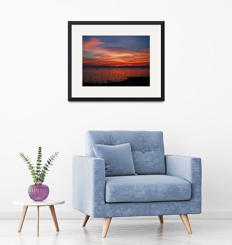 """""""red sunset no. 9 –  the satin blanket""""  (2010) by sunsetcolors"""
