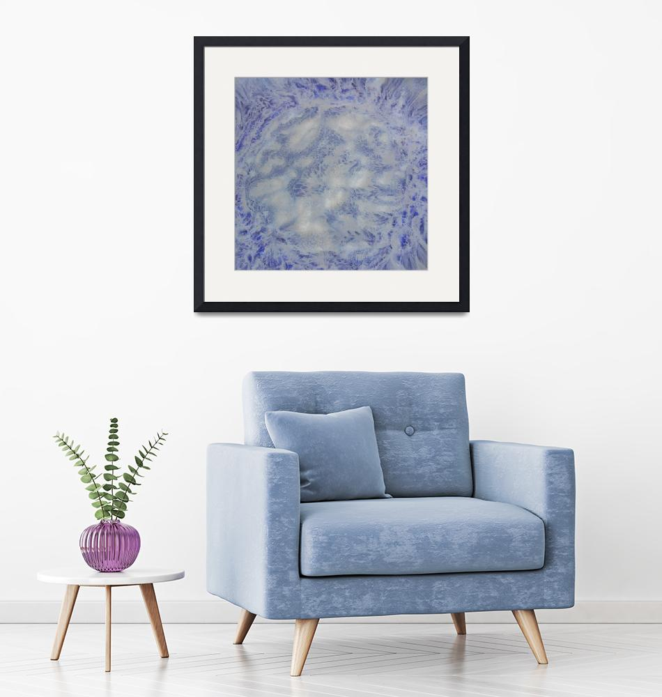 """""""14. v1 Blue and White Abstract""""  (2016) by maggieminordesigns"""