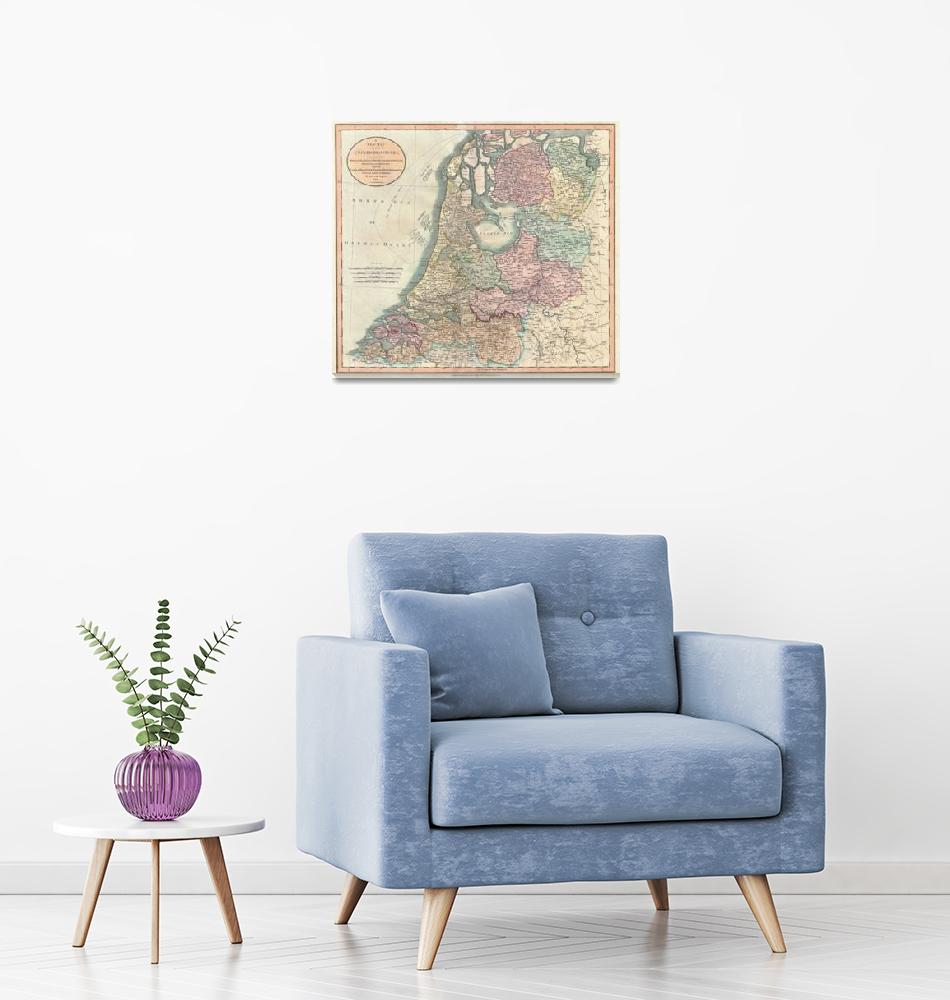 """""""Vintage Map of The Netherlands (1799)""""  by Alleycatshirts"""