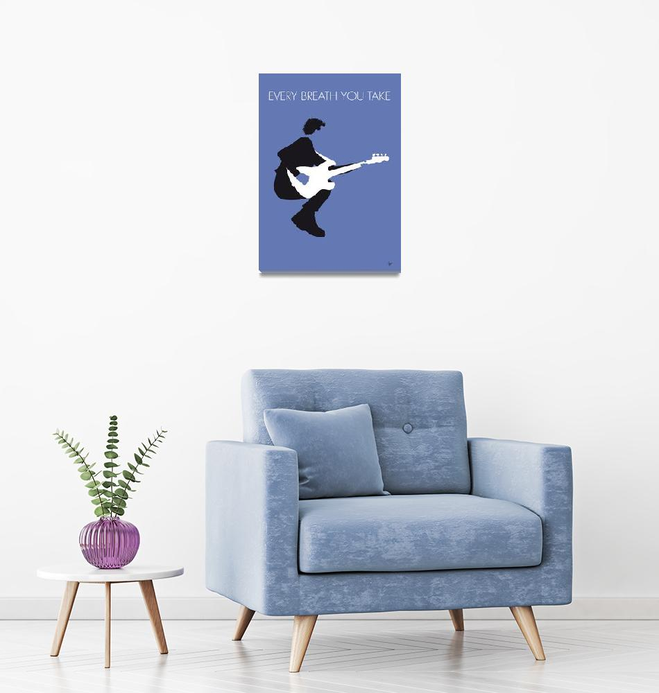 """No058 MY THE POLICE Minimal Music poster""  by Chungkong"