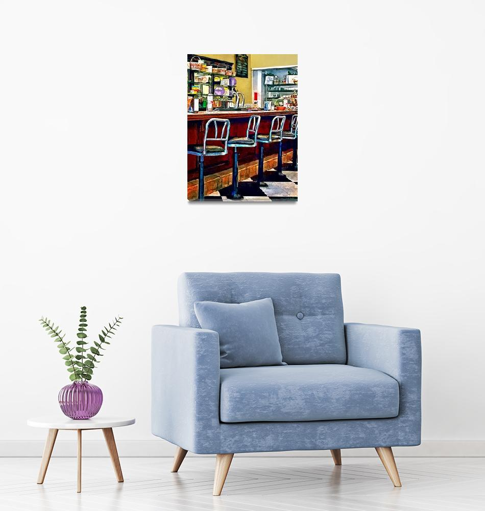 """""""Candy Store With Soda Fountain""""  by susansartgallery"""