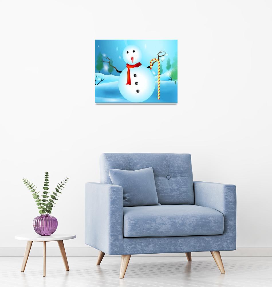 """Snow man in winter season""  (2010) by digitalpainting"