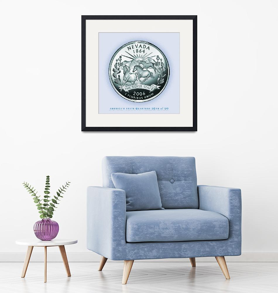 """""""Nevada State Quarter - Portrait Coin 36""""  (2017) by statequarters"""