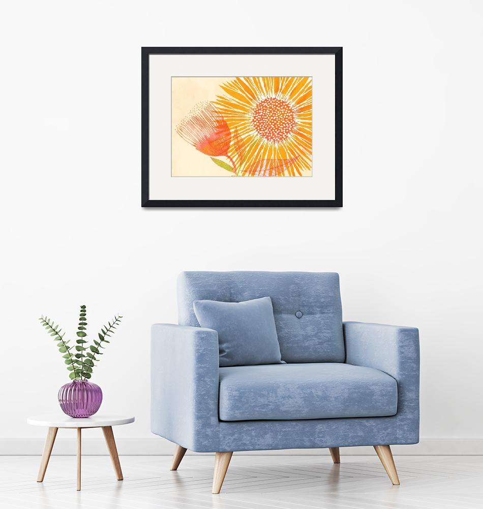 """Bright Sunflower""  (2019) by moderntropical"