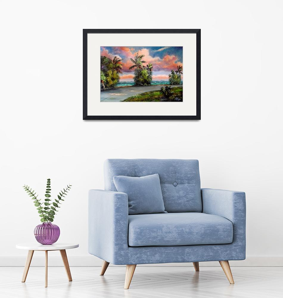 """""""Coconut Palms along Indian River Drive""""  (2018) by mazz"""