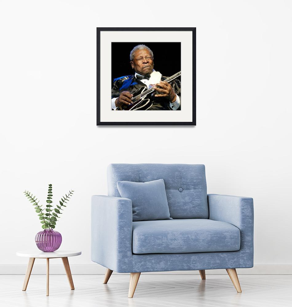 """BB King""  (2010) by chriscartledge"