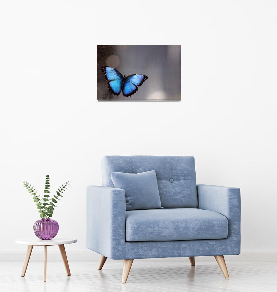 """""""Blue Butterfly Dreams""""  (2015) by KsWorldArt"""