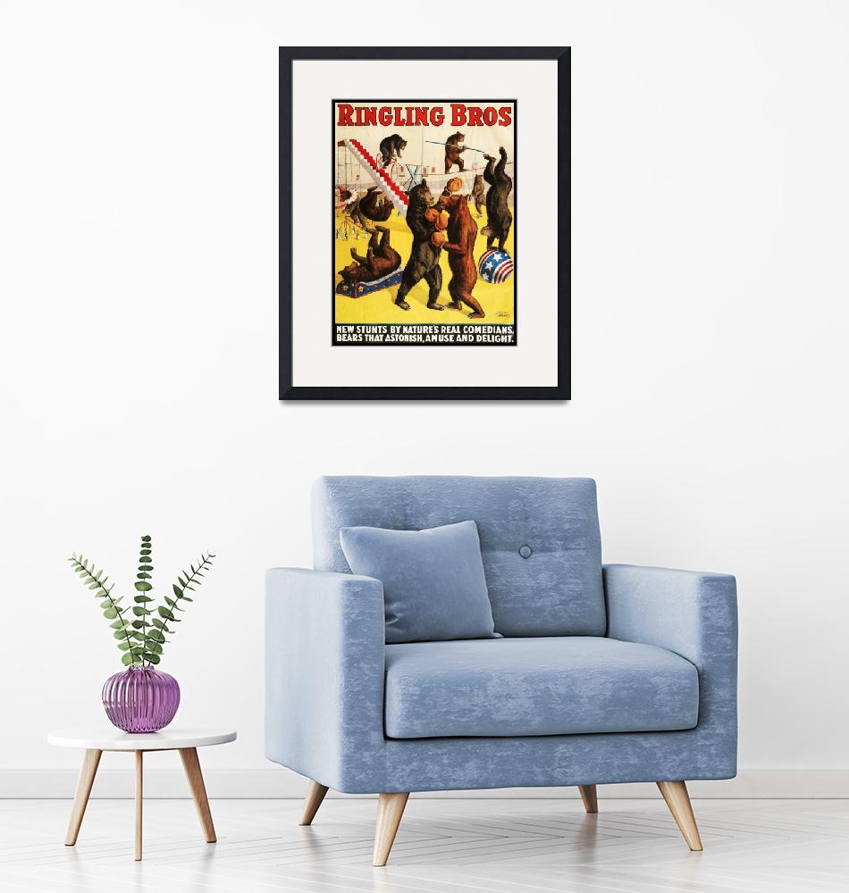 """""""Ringling Brothers Circus Vintage Poster""""  by FineArtClassics"""