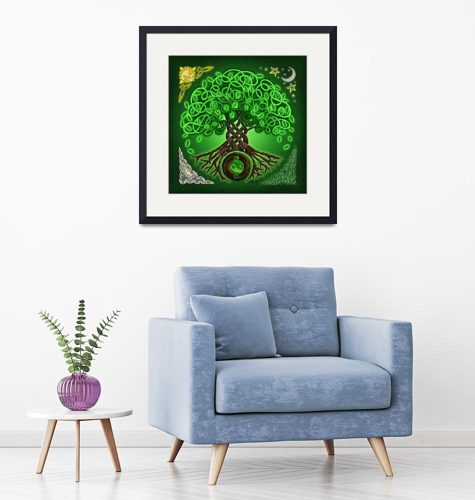 """""""Circle Celtic Tree of Life""""  by foxvox"""