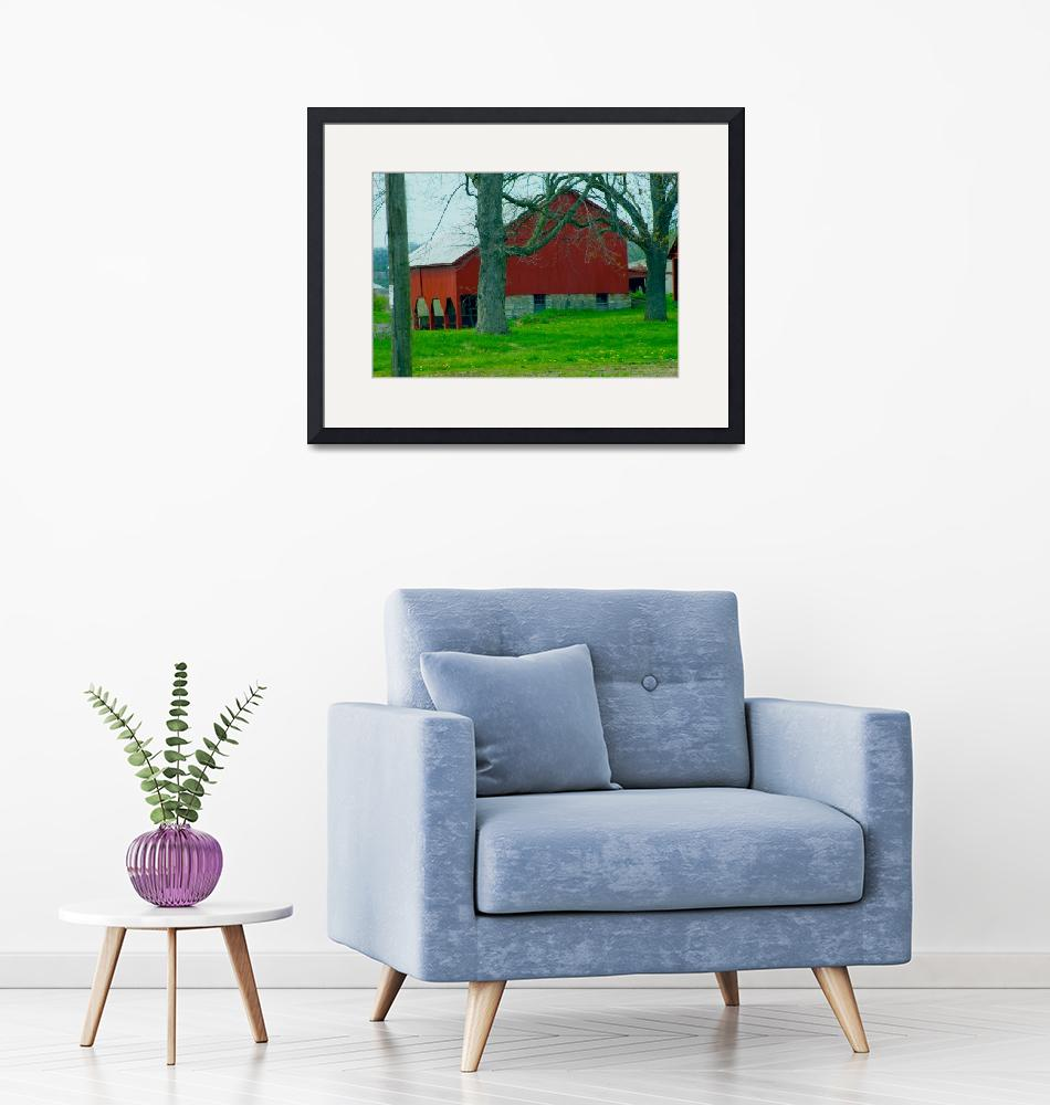 """""""Barn in Red""""  (2009) by TheCanvas"""