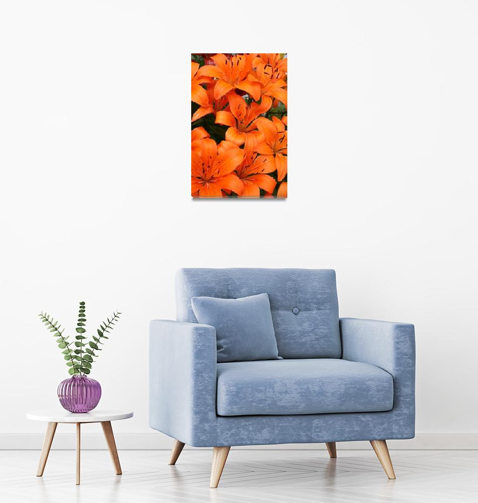 """Bright Orange Lilies""  (2010) by CreativeImage"