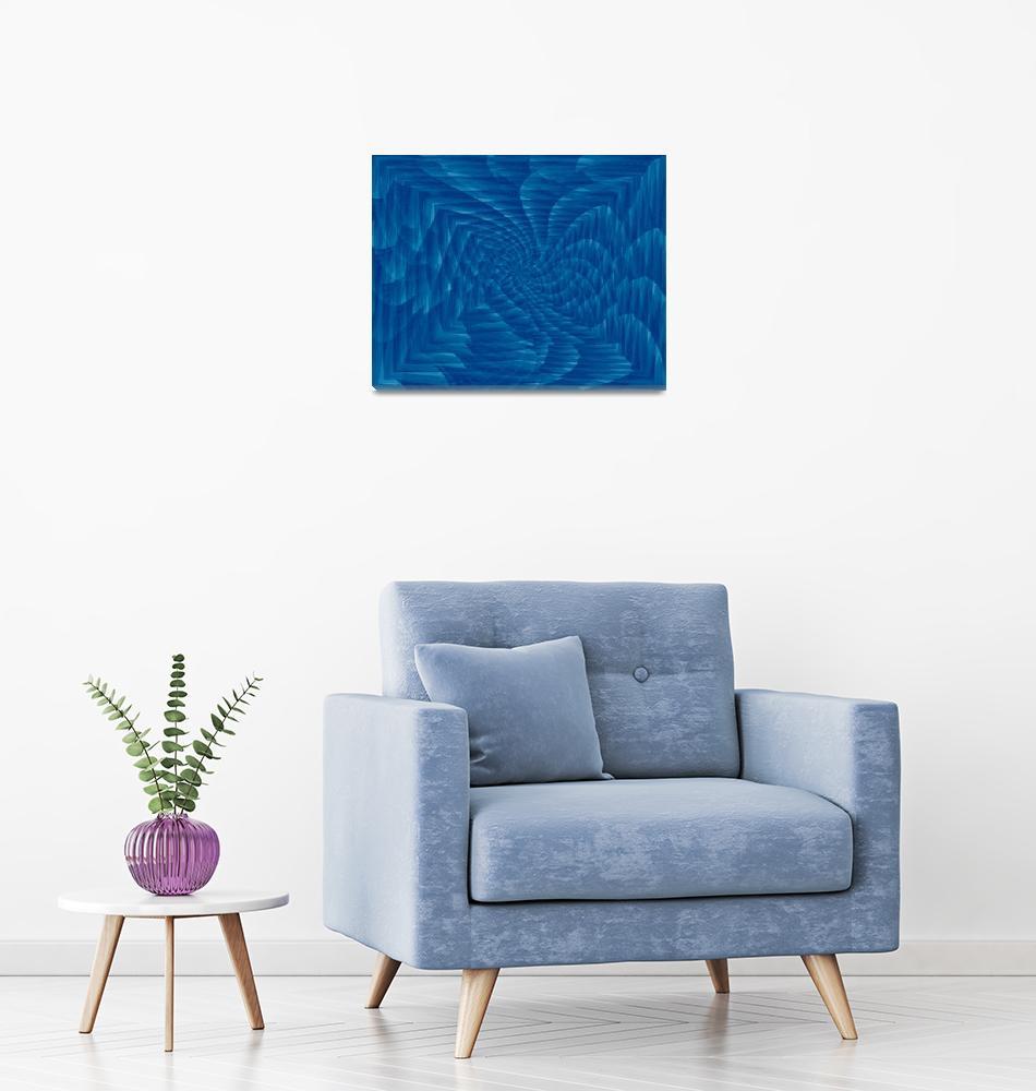 """Blue swirl""  by Almajam"