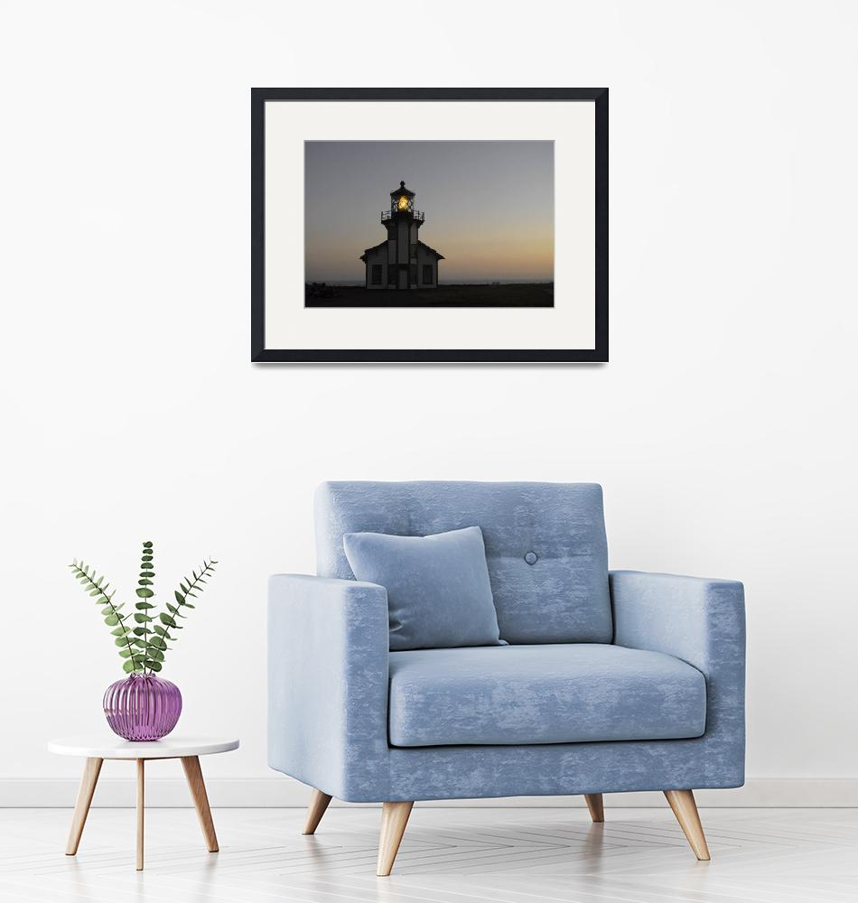 """""""Point Cabrillo Lighthouse at Dusk""""  (2007) by SederquistPhotography"""