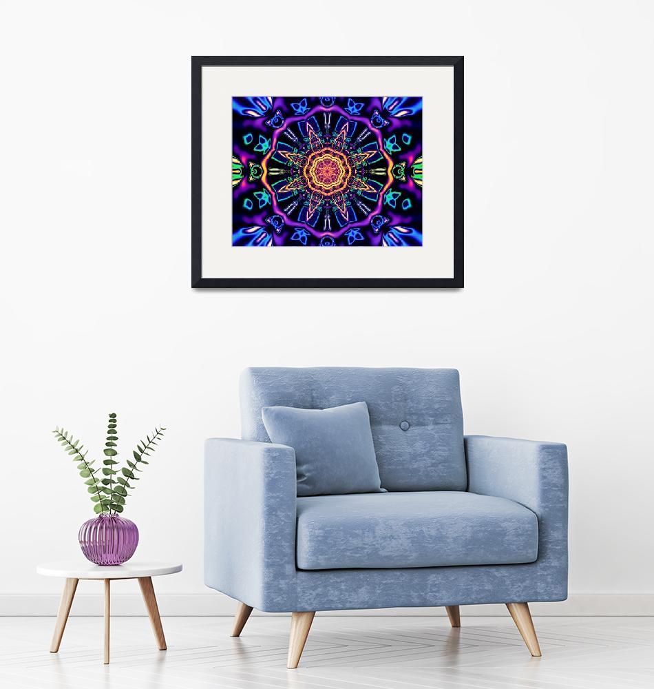 """""""""""Return to Awe"""" - Psychedelic Abstract Mandala""""  (2015) by LeahMcNeir"""