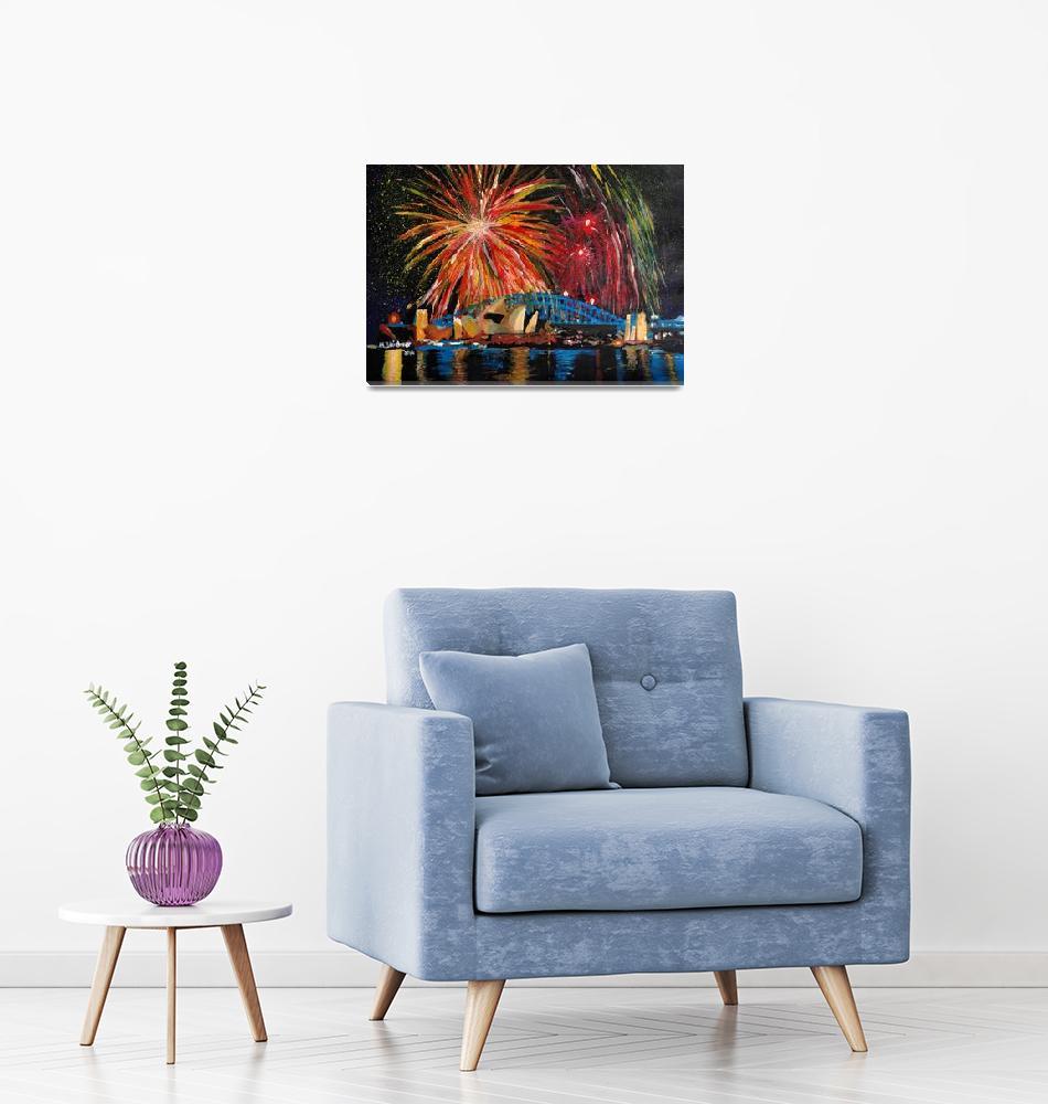 """Sydney Firework at Opera House""  (2014) by arthop77"