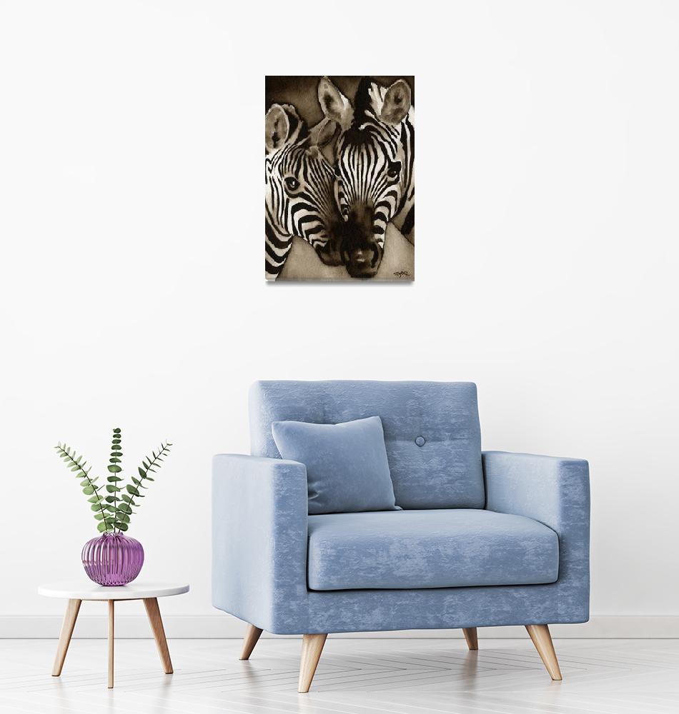 """""""Zebras""""  (2010) by k9artgallery"""