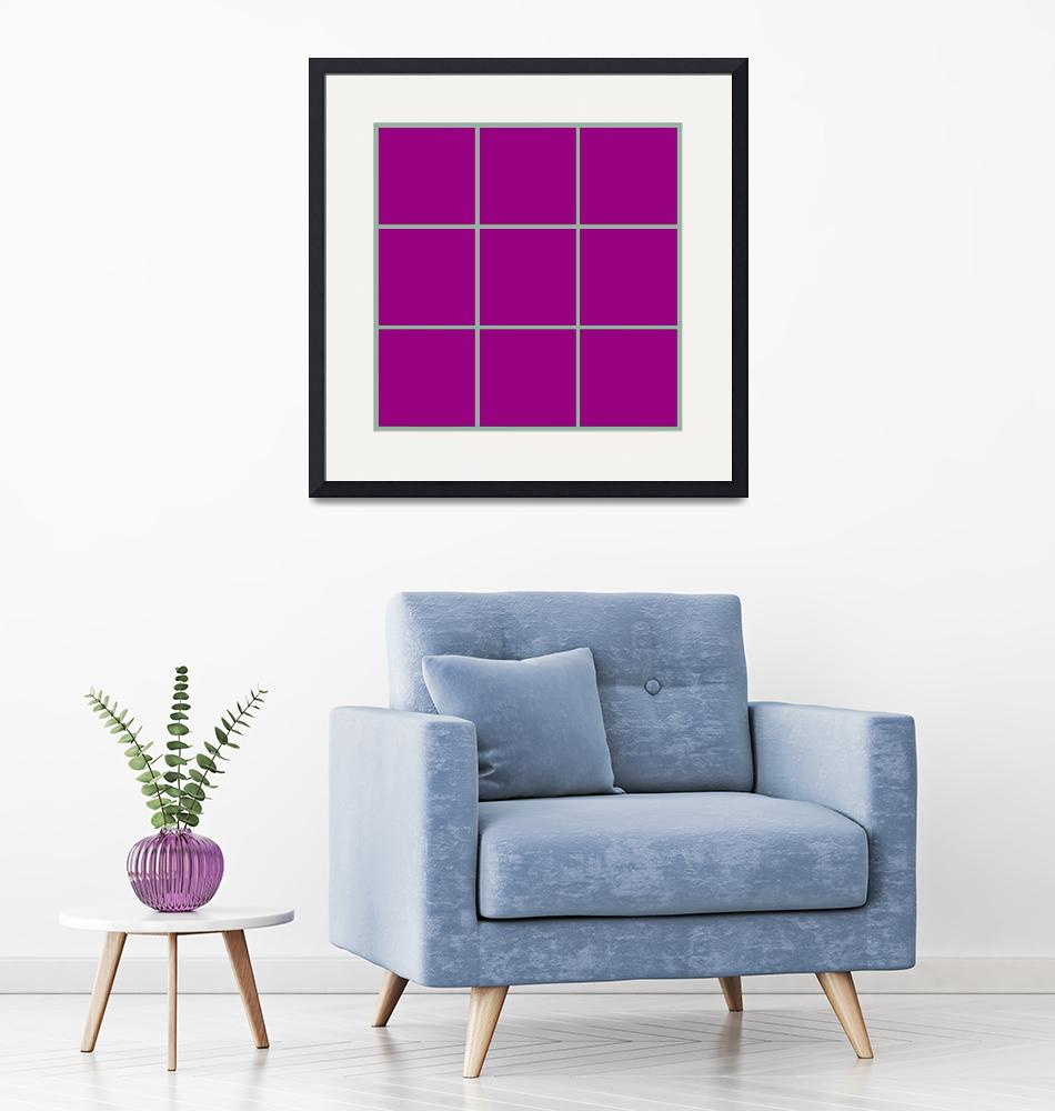 """Violet Window 187 Canvas Contemporary Modern""  (2010) by Ricardos"