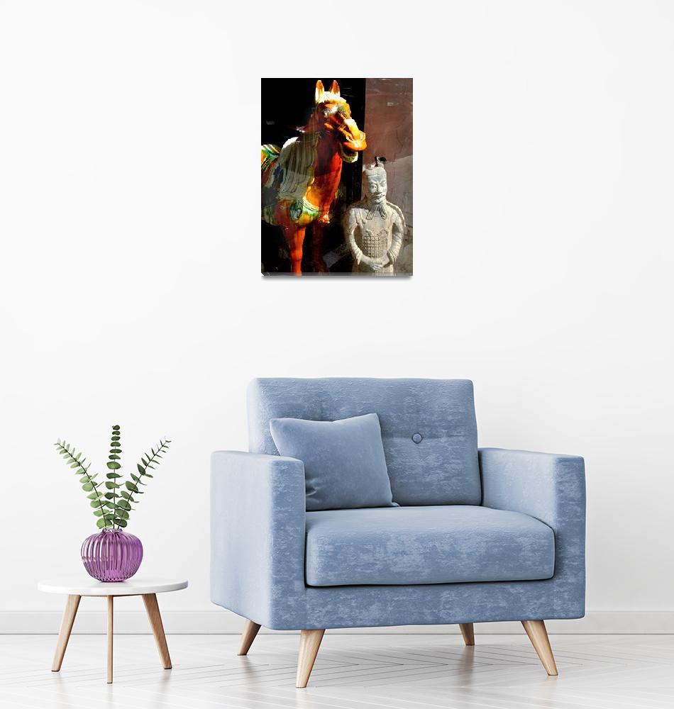 """Gentleman and His Horse""  (2014) by davidgilbert"