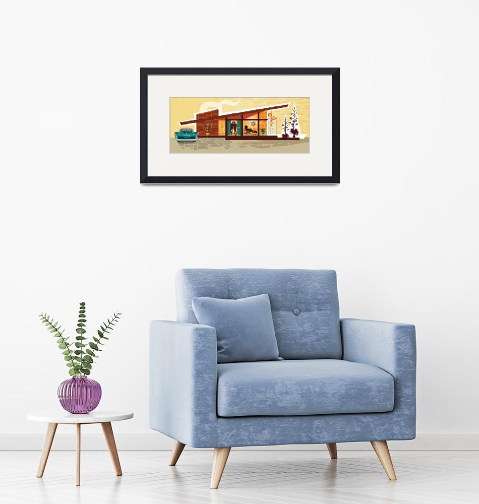 """""""Mid Century Modern House   Gay Men   Angle Roof Po""""  by DianeDempseyDesign"""