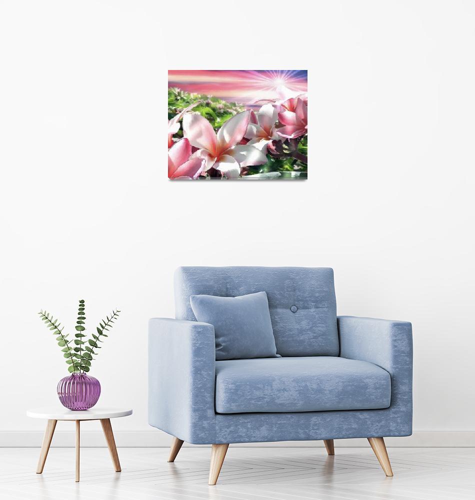 """Plumeria Canopy horizontal""  (2006) by renyen"