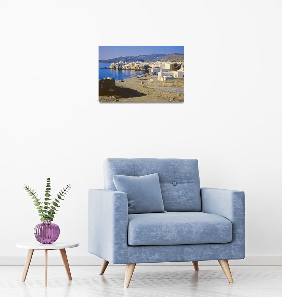 """""""Harbour, Mykonos, Greece, 1960""""  (1960) by PriscillaTurner"""