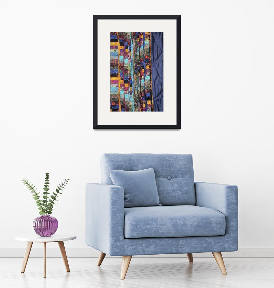 """""""A Patchwork of Fabric Abstract""""  (2012) by WallArtDeco"""