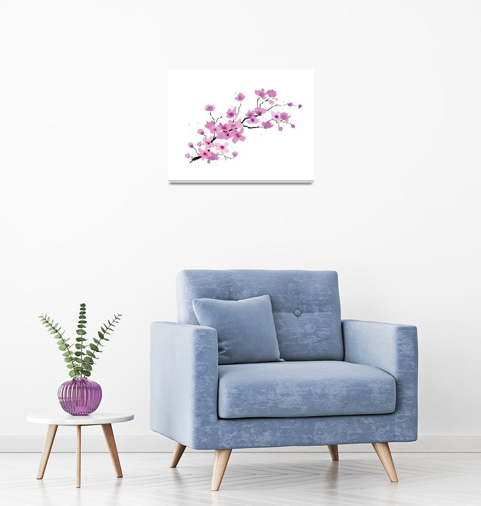 """""""Cherry Blossoms""""  (2016) by k9artgallery"""