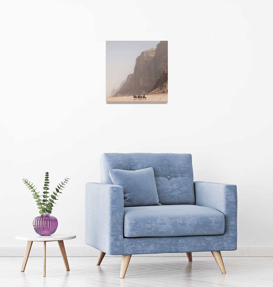 """Wadi Rum Camels""  (2012) by anthonjackson"