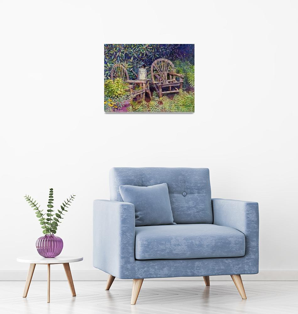 """Garden Retreat""  (2018) by HaileyWatermedia"