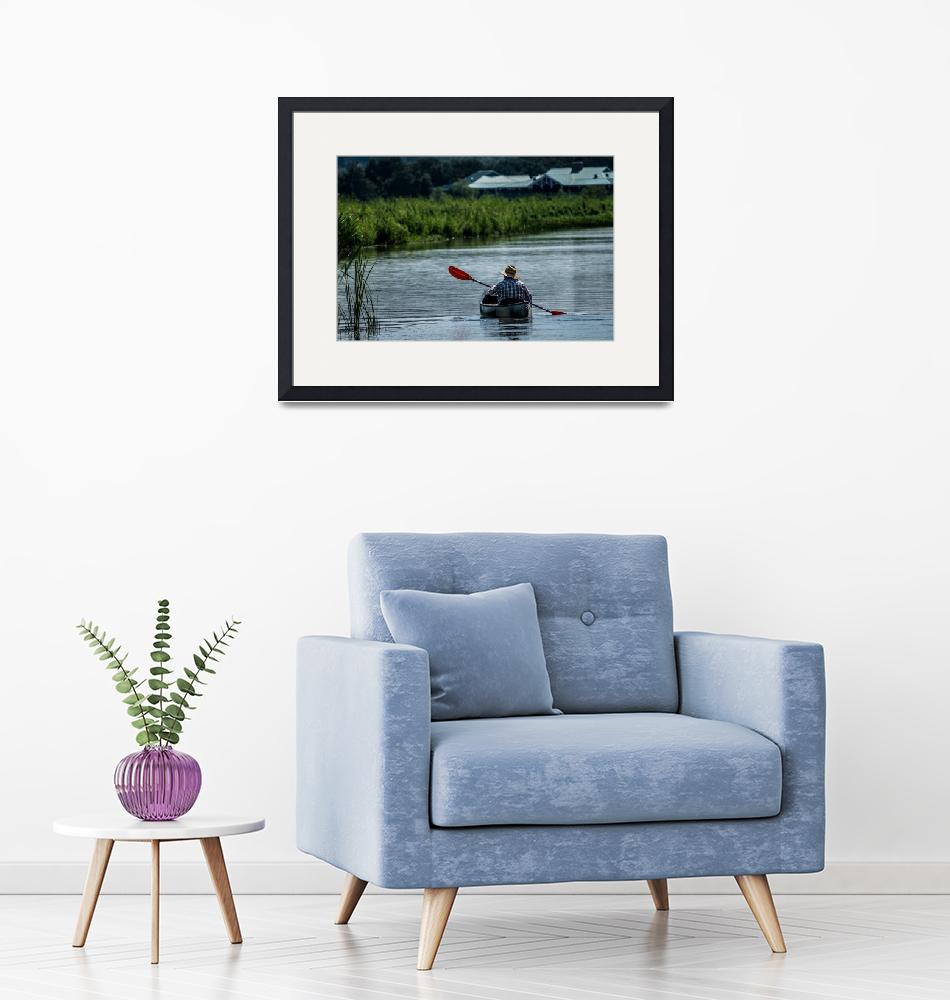 """""""Kayak in the Delta"""" (2017) by GwenAinsworth"""