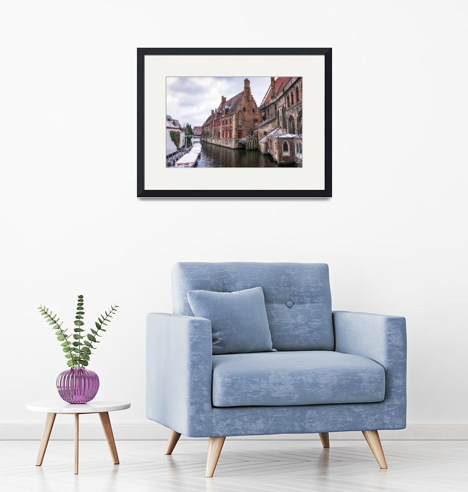 """Snow over Bruges""  (2018) by aaronchoi"