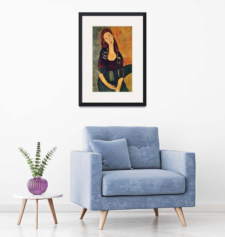 """""""Amedeo Clemente Modigliani Painting 71""""  by ArtLoversOnline"""