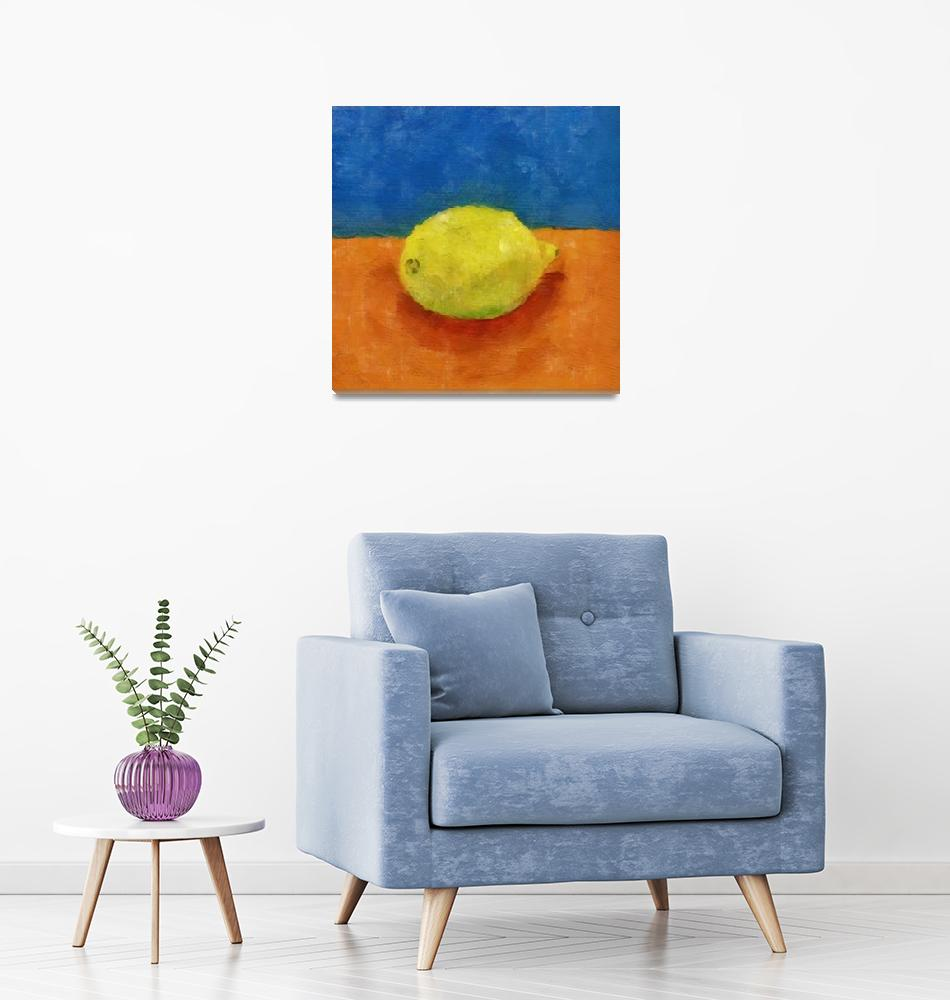 """""""Lemon with Blue and Orange""""  (2014) by Michelle1991"""