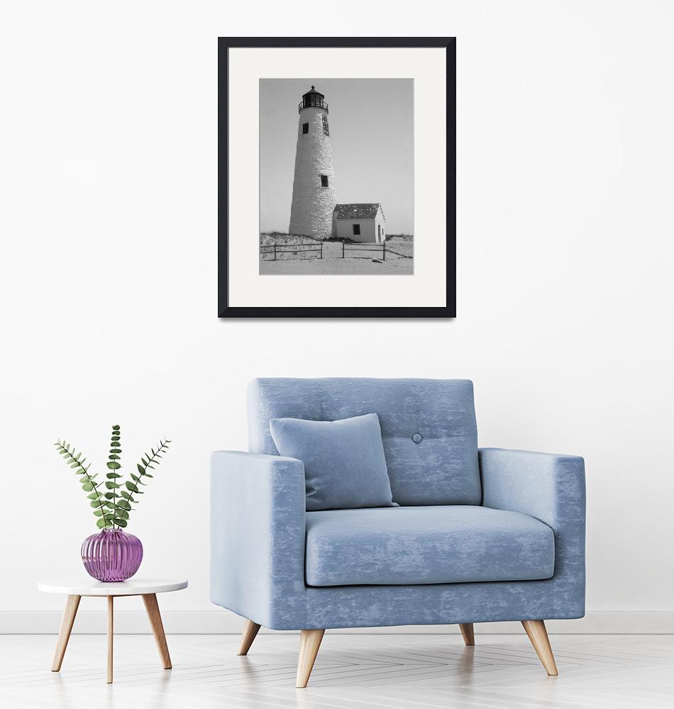 """Great Point Lighthouse Nantucket""  (2009) by MAGartworks"