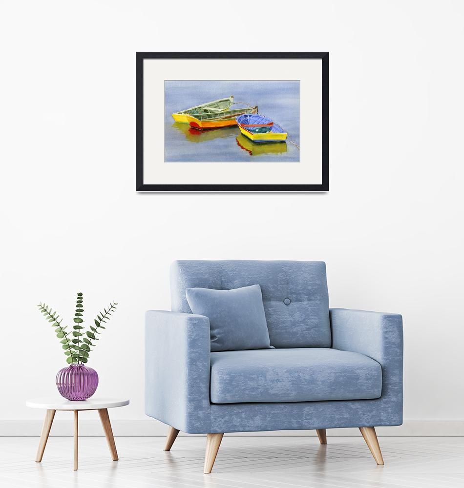 """""""Yellow Dories""""  (2012) by Pacific-NW-Watercolors"""