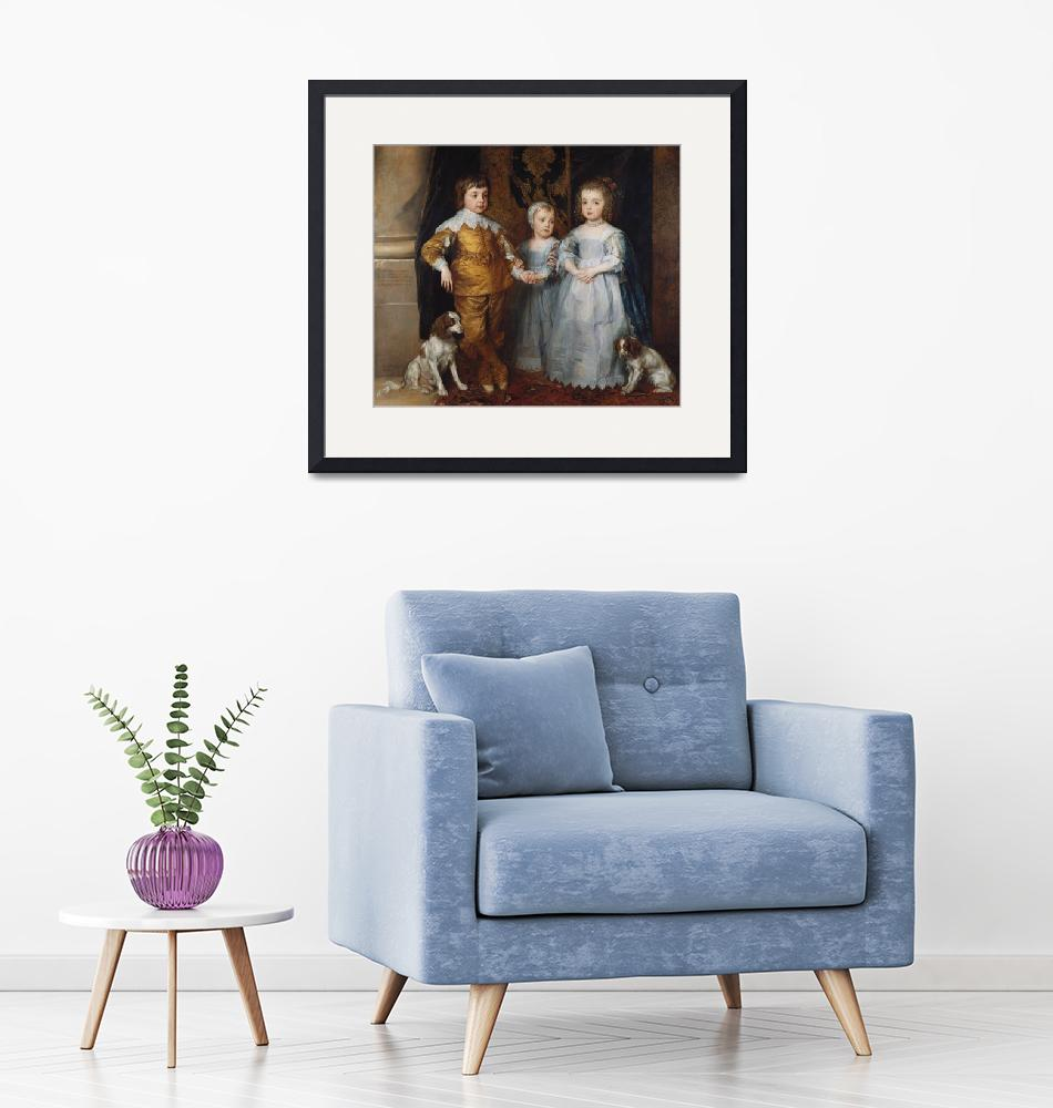 """The three eldest children of Charles I"" by fineartmasters"