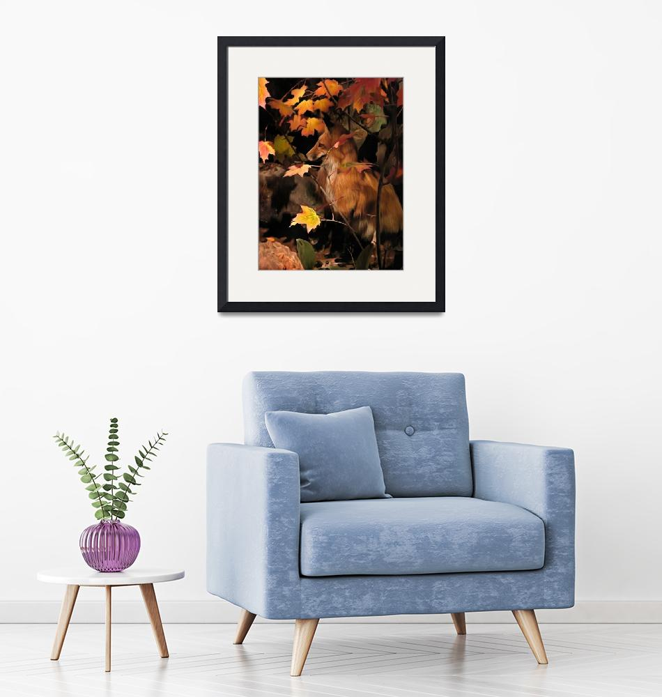 """""""Red Fox in the Fall""""  (2018) by LeftHandPrints"""