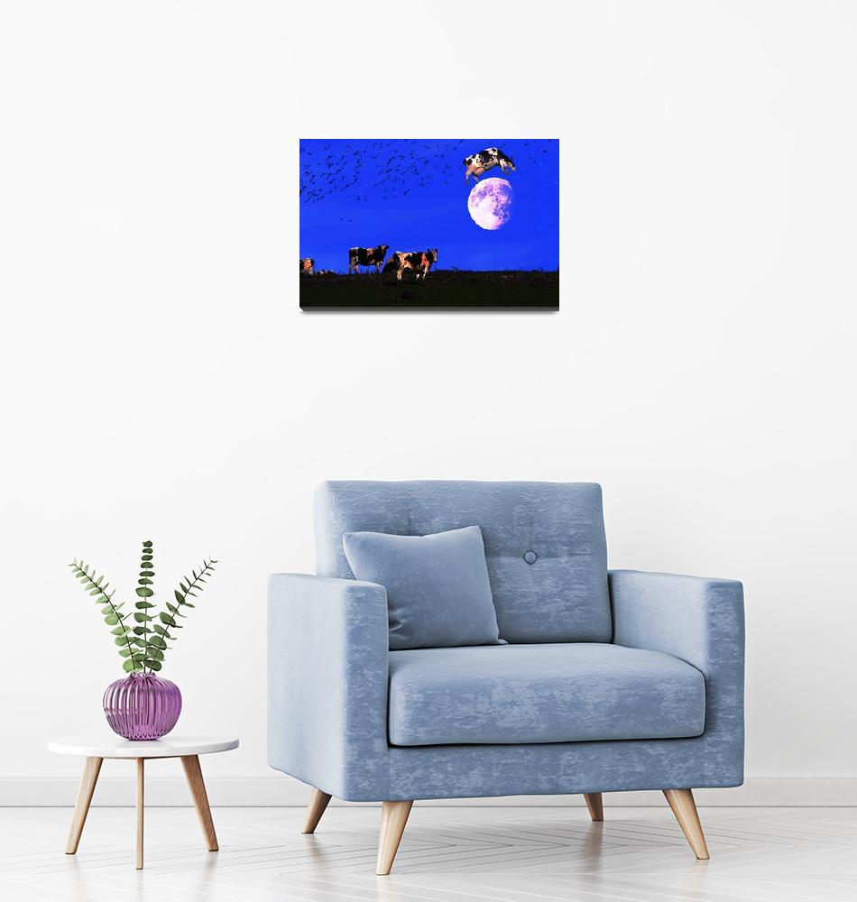 """""""The Cow Jumped Over The Moon""""  (2010) by wingsdomain"""