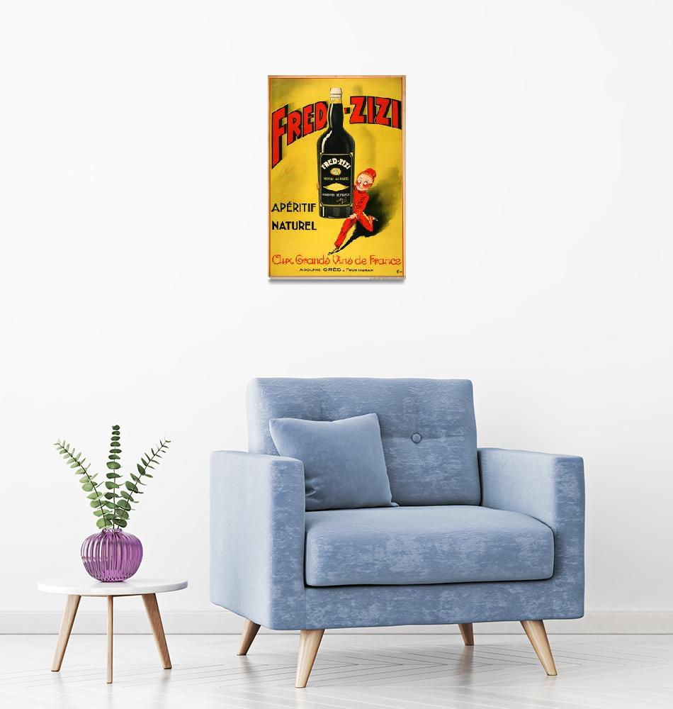 """Fred Zizzi Vintage Poster""  by FineArtClassics"
