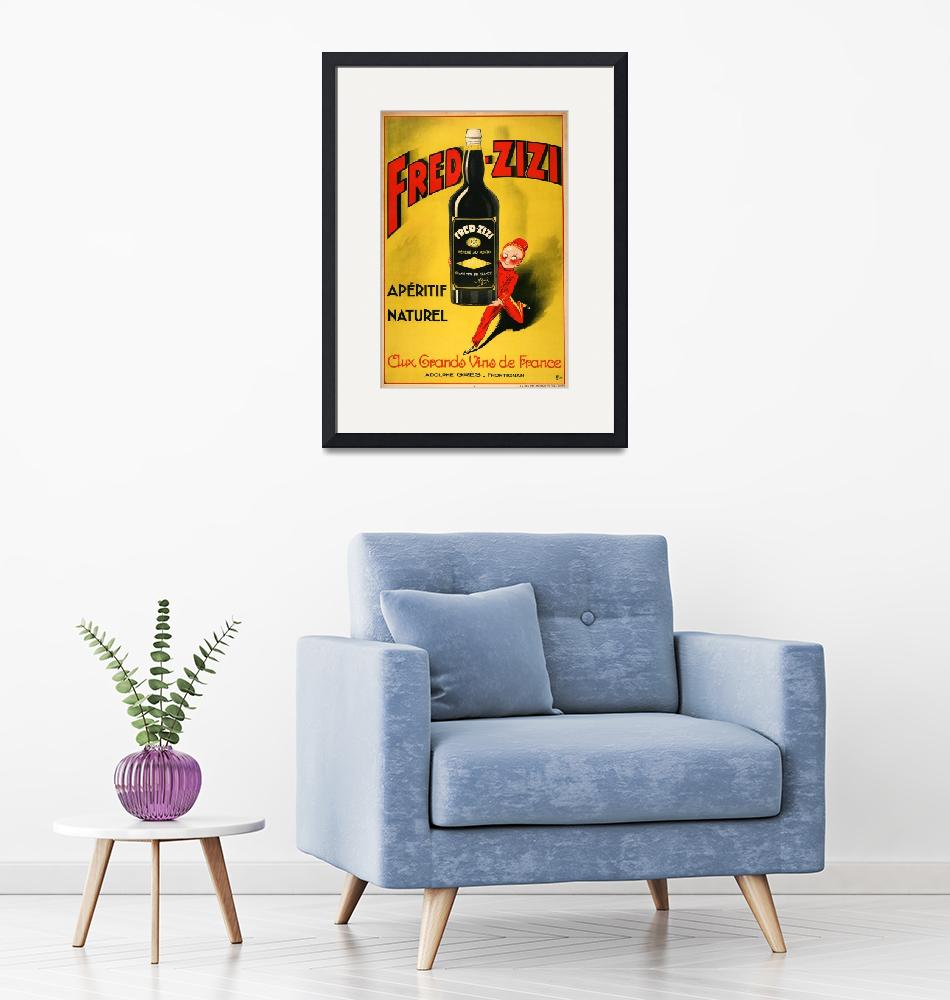 """""""Fred Zizzi Vintage Poster""""  by FineArtClassics"""