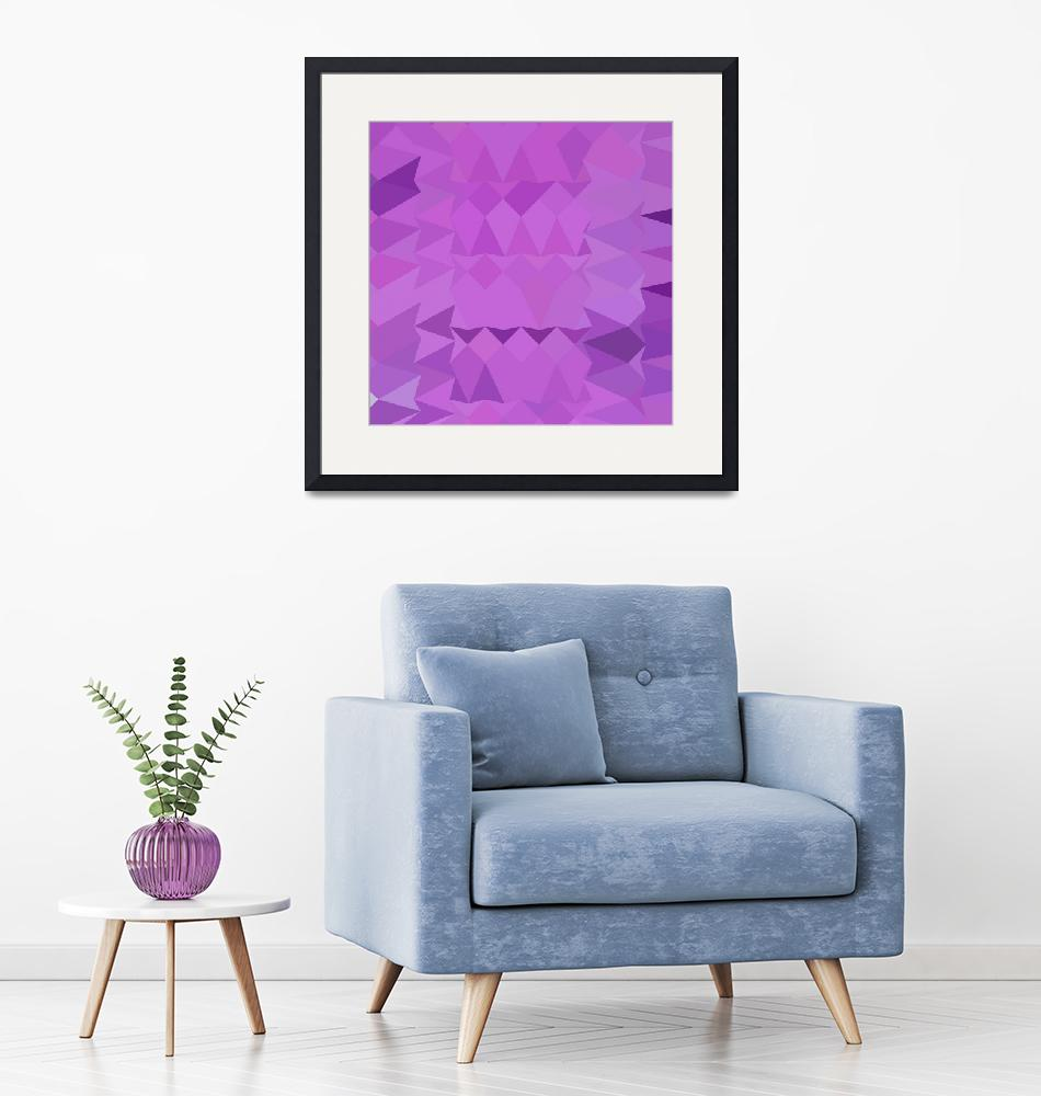 """Bright Lavender Abstract Low Polygon Background""  (2015) by patrimonio"