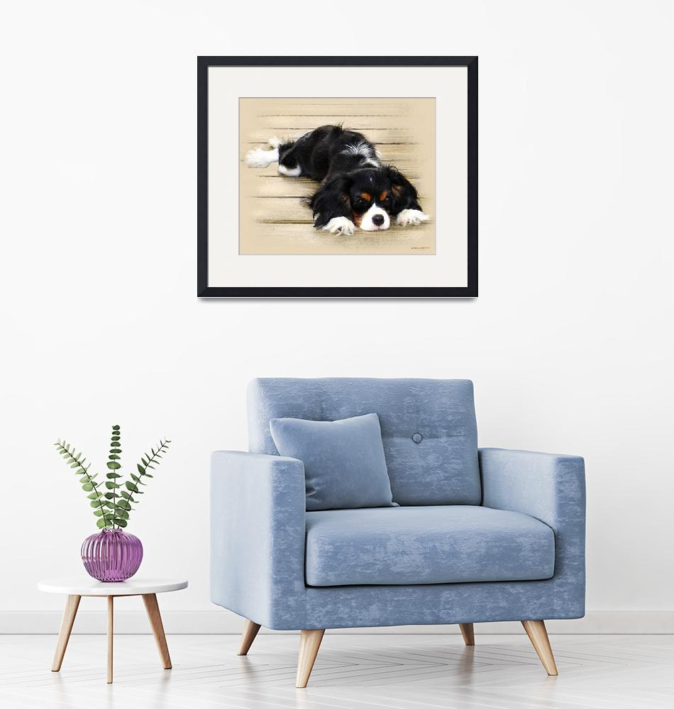 """Cavalier King Charles Spaniel""  (2009) by lindacarroll"