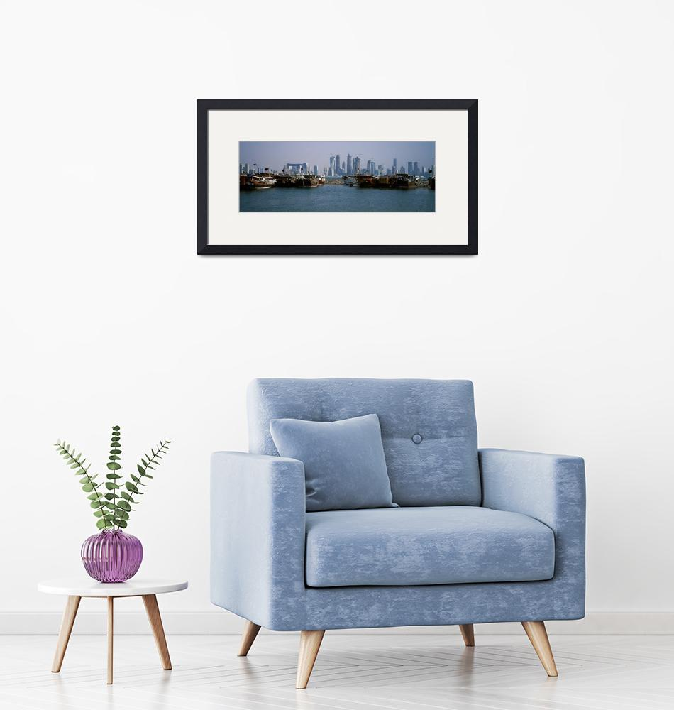 """""""Harbor with skylines in the background Dhow Harbo""""  by Panoramic_Images"""