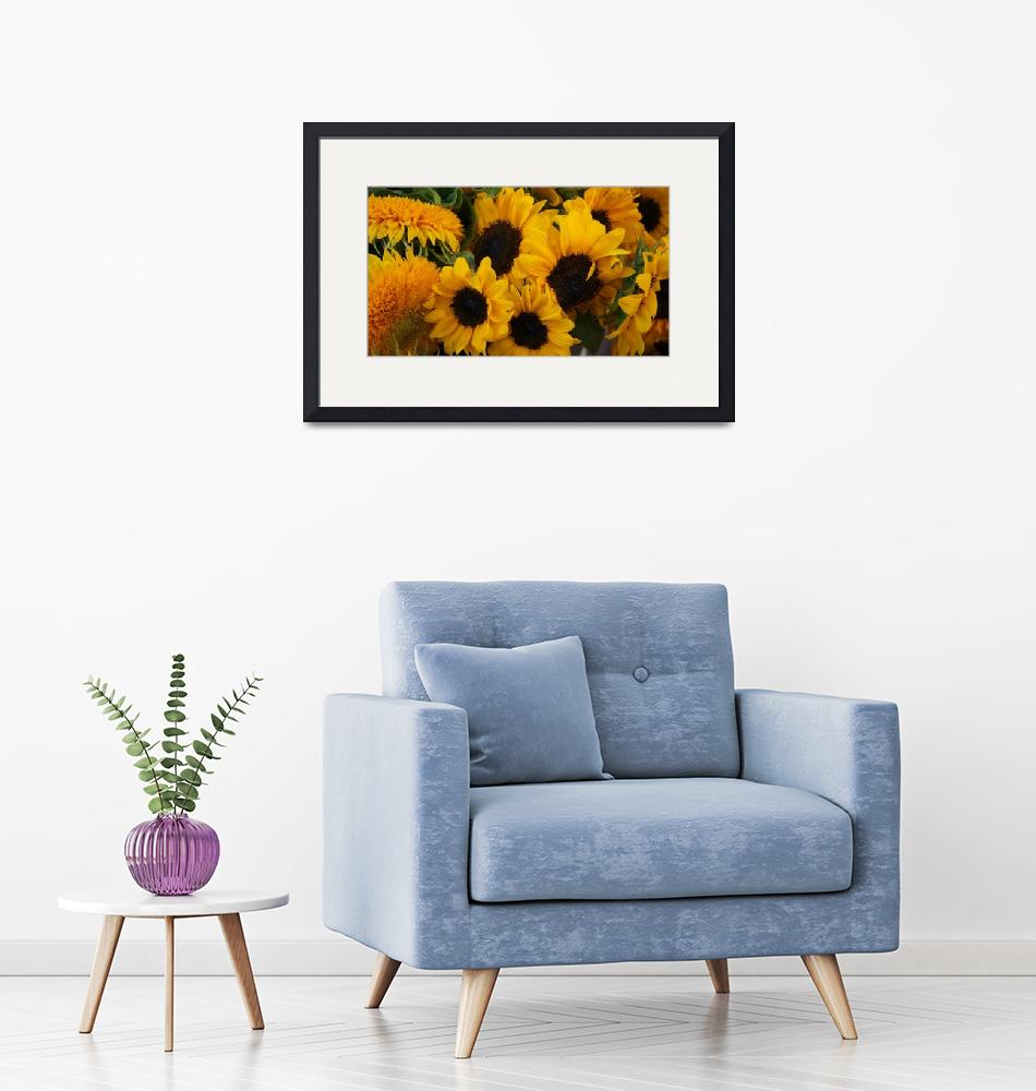 """""""Sunflowers""""  (2012) by JustBecause"""