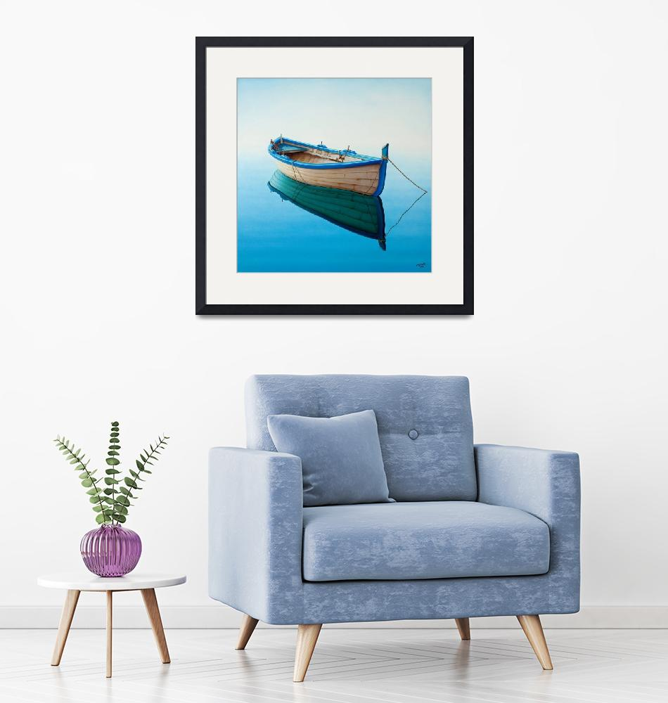 """""""boat in a Tranquil Bay""""  (2008) by Horacio-Cardozo"""