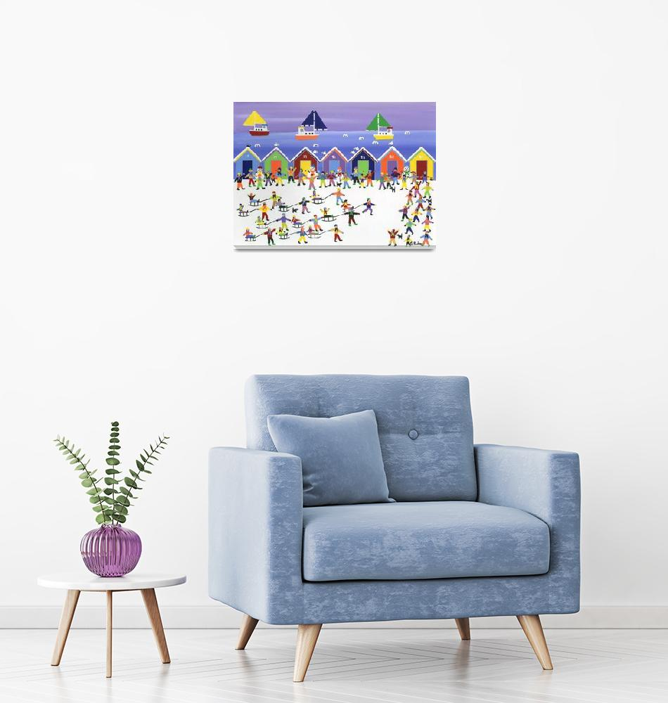 """Winter Beach Parade""  by artlicensing"