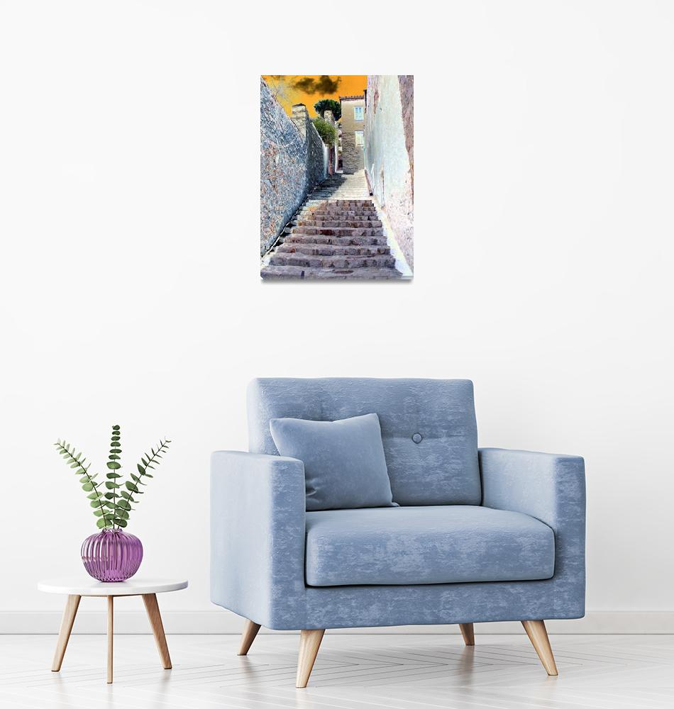 """Stairs 7 Hydra Island Greece""  by digitalart"