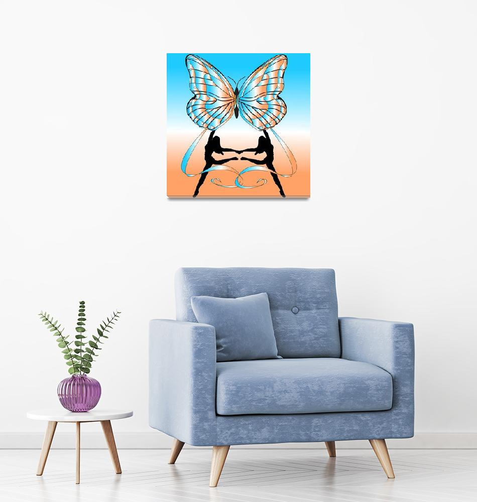 """Dancing Girls with Butterfly""  (2007) by Chatterbox"