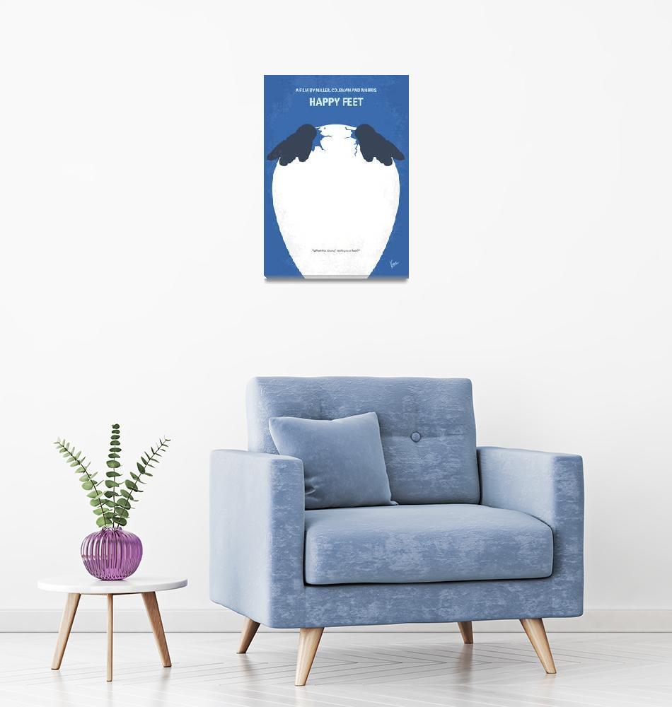 """No744 My Happy Feet minimal movie poster""  by Chungkong"