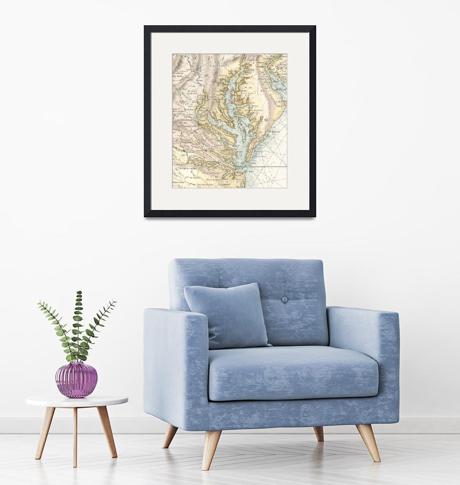 """""""Vintage Map of The Chesapeake Bay (1778) 2""""  by Alleycatshirts"""